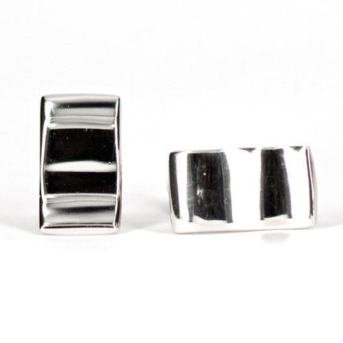 Wavy Silver Cufflinks