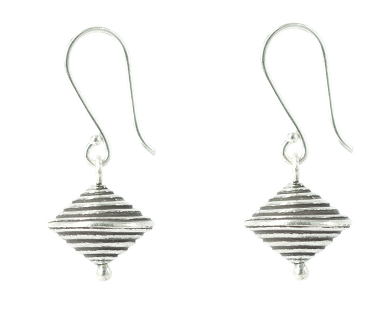 lucky one silver saturn earrings
