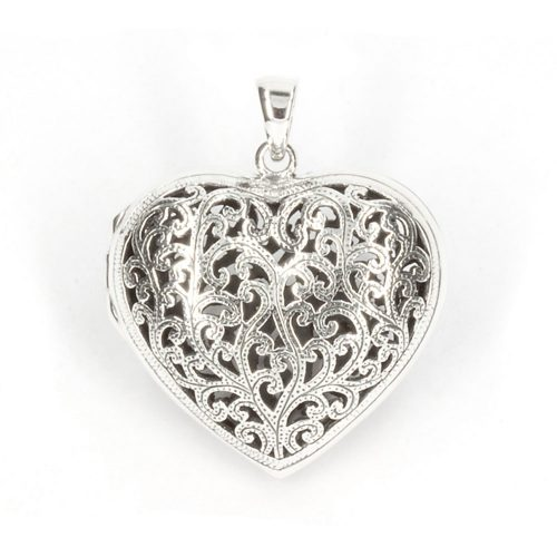 Ornate Silver Heart Pendant