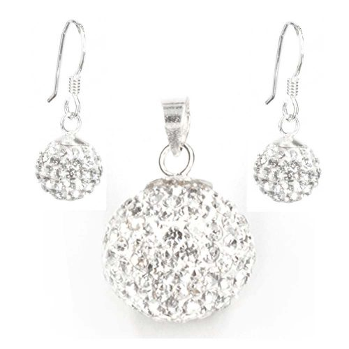 Cubic Zirconia Pendant & Earrings
